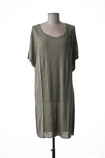 Robe pull vert STEFAN GREEN pour femme