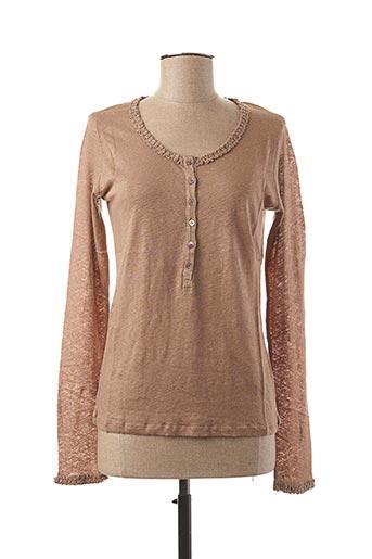 T-shirt manches longues beige STEFAN GREEN pour femme