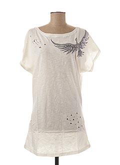 Tunique manches courtes blanc AKOZ pour femme