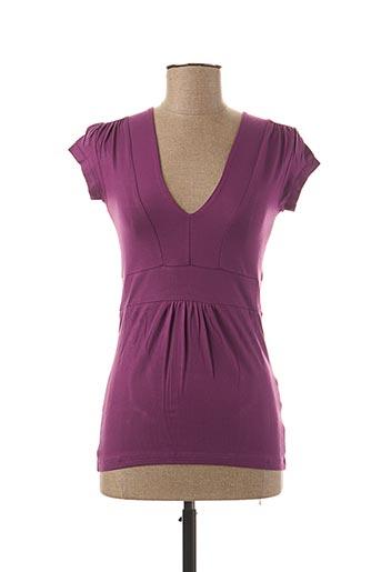 T-shirt manches courtes violet TEENFLO pour femme
