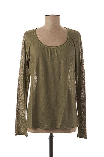 T-shirt manches longues vert STEFAN GREEN pour femme