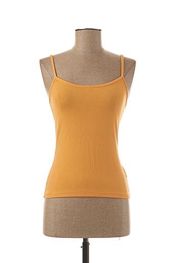 Top orange TEENFLO pour femme