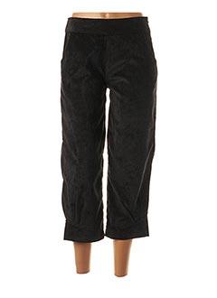 Pantalon 7/8 noir NID D'ABEILLE pour femme
