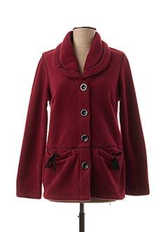 Veste casual rouge TELMAIL pour femme