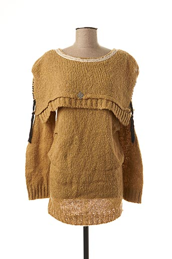 Pull col rond beige BATISTAME pour femme