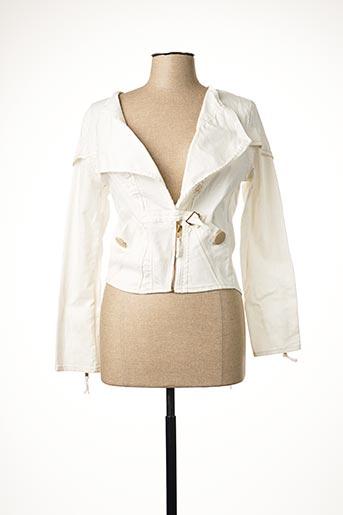 Veste casual blanc CATY LESCA pour femme