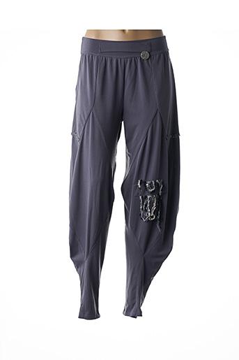 Pantalon casual gris BATISTAME pour femme