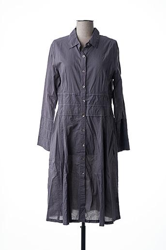 Robe mi-longue gris NID D'ABEILLE pour femme