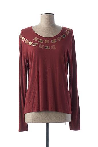 T-shirt manches longues rouge FINETTE pour femme