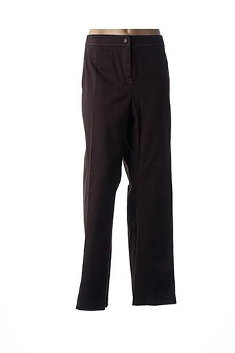Pantalon casual marron JEAN DELFIN pour femme