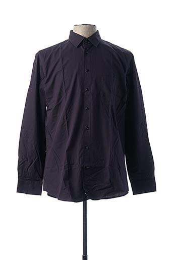 Chemise manches longues violet CHATEL pour homme