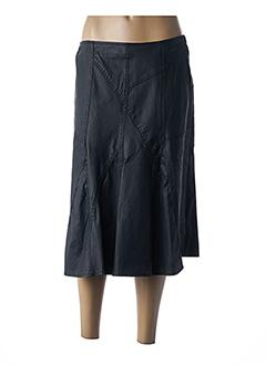 Jupe mi-longue noir KANOPE pour femme