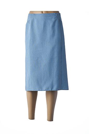 Jupe mi-longue bleu CATY JANE pour femme