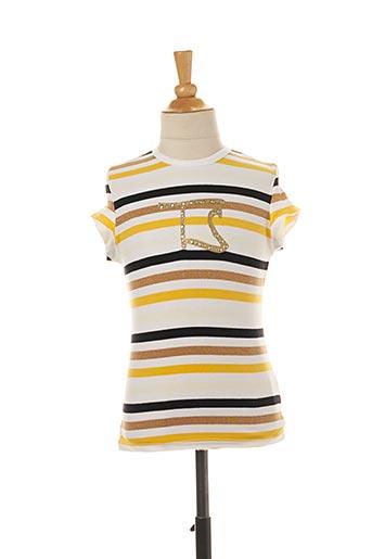 T-shirt manches courtes jaune TEDDY SMITH pour fille