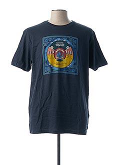 T-shirt manches courtes bleu BEN SHERMAN pour homme