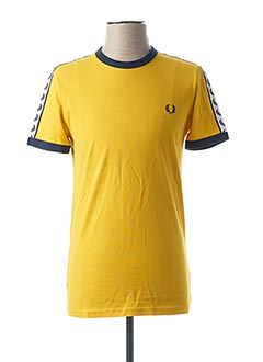 T-shirt manches courtes jaune FRED PERRY pour homme