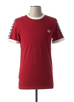 T-shirt manches courtes rouge FRED PERRY pour homme
