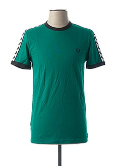 T-shirt manches courtes vert FRED PERRY pour homme