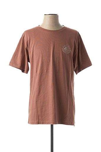 T-shirt manches courtes marron IRON AND RESIN pour homme