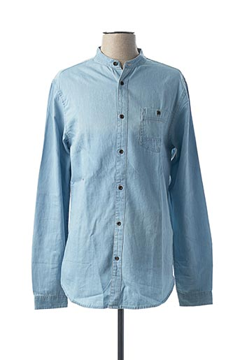 Chemise manches longues bleu ONLY&SONS pour homme