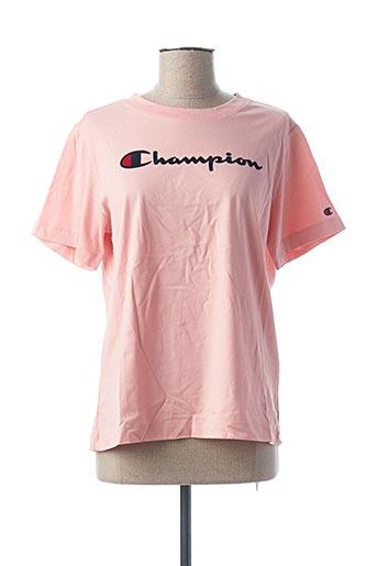 T-shirt manches courtes rose CHAMPION pour femme