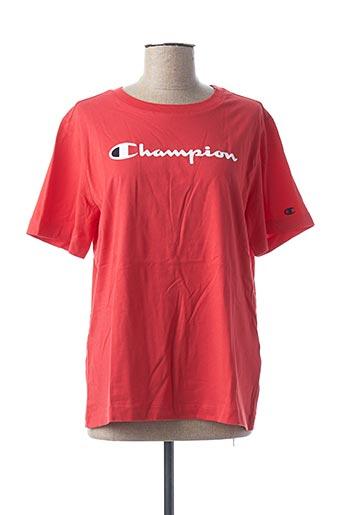 T-shirt manches courtes rouge CHAMPION pour femme