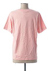 T-shirt manches courtes rose CHAMPION pour femme seconde vue