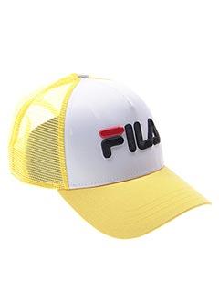 Casquette jaune FILA pour homme