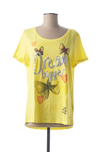 T-shirt manches courtes jaune CECIL pour femme