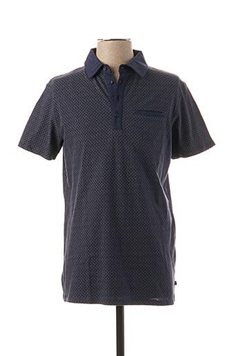 Polo manches courtes bleu TIBET pour homme