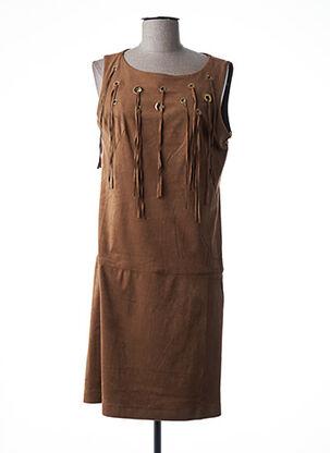 Robe mi-longue marron EXTENZO PARIS pour femme