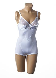 Body lingerie blanc BARBARA pour femme