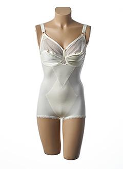 Body lingerie jaune BARBARA pour femme