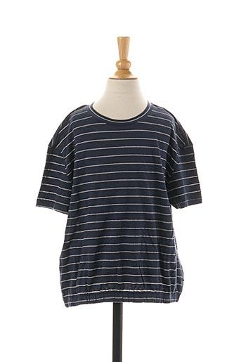 T-shirt manches courtes bleu LE TEMPS DES CERISES pour fille