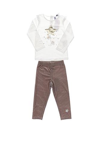 Top/pantalon beige 3 POMMES pour fille