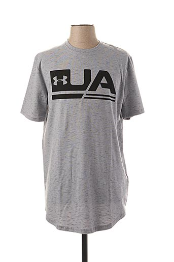 T-shirt manches courtes gris HEAT GEAR pour homme