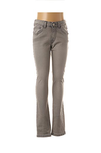 Jeans coupe slim gris ROXY GIRL pour fille