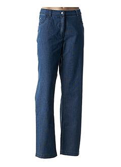 Jeans coupe droite bleu EVER EASY BY JAC JAC pour femme