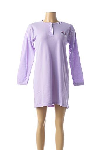 Chemise de nuit violet 20/20 pour femme