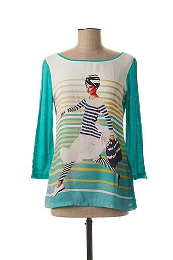 T-shirt manches longues bleu CAMISETAS pour femme