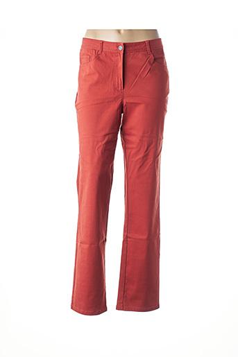 Pantalon casual orange FELINO pour femme