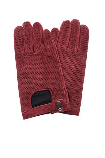 Gants rouge ICHI pour femme
