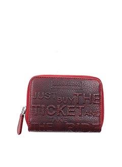 Porte-monnaie rouge BARBARA RIHL pour femme