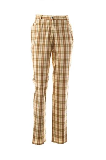 Pantalon casual jaune FRANCOIS FAVEL pour femme