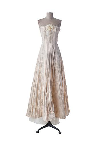 Robe longue beige CAPTIVE pour femme
