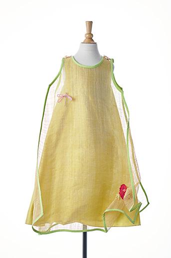 Robe mi-longue vert ELSA GARY pour fille