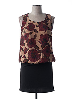 Robe courte rose TEDDY SMITH pour femme
