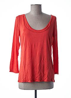 T-shirt manches longues orange LOLA ESPELETA pour femme