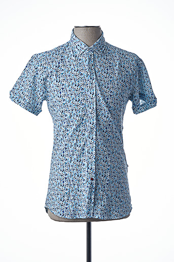 Chemise manches courtes bleu LA CIBLE ROUGE pour homme