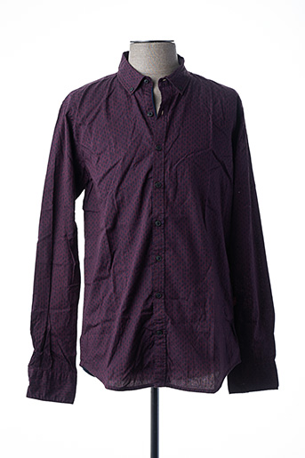 Chemise manches longues rouge MEN OF ALL NATION pour homme